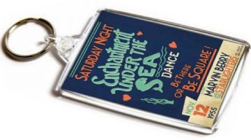 Enchantment Under The Sea Dance Jumbo Keyring. Inspired by Back to the Future